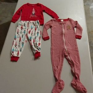 Lot of Christmas pjs 18-24 months
